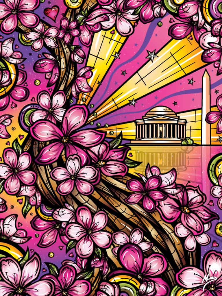 National Cherry Blossom Festival 2020 Official Poster_ Matt Long